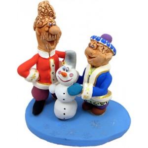 """Статуетка """"Ліпимо снігову бабу"""""""