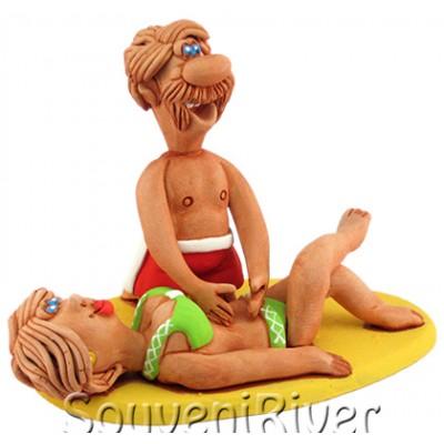 """Статуетка """"Масаж на пляжі"""""""