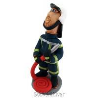 """Статуетка """"Пожежник з пожежним рукавом (молодий)"""""""