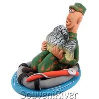 """Статуетка """"Перша рибалка на коропа"""""""