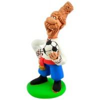 """Статуетка """"Козак  грає у футбол"""""""