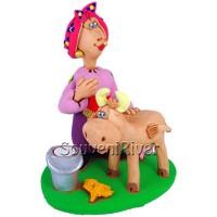 """Статуетка """"Козачка з коровою"""""""