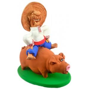 """Статуэтка """"Верхом на свинье"""""""
