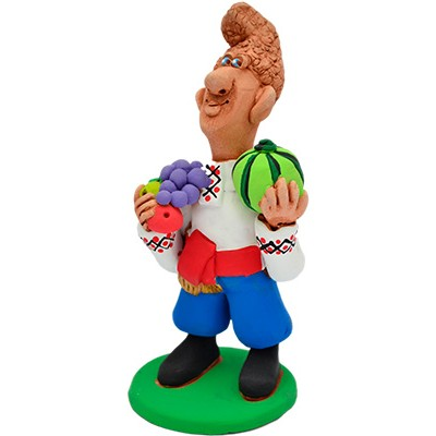 """Статуетка """"Садовник з фруктами"""""""