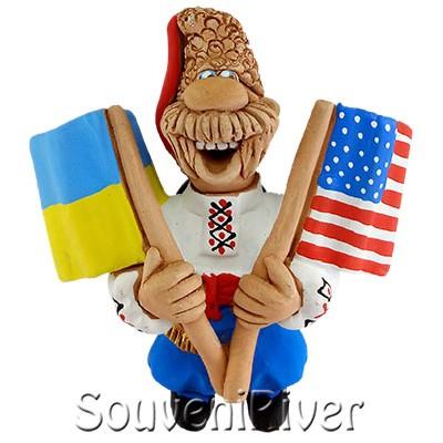 """Сувенірний магніт """"Україна - США"""""""