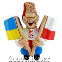 """Сувенірний магніт """"Україна - Польща"""""""