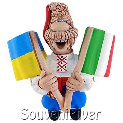 """Сувенірний магніт """"Україна - Італія"""""""