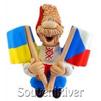 """Сувенірний магніт """"Україна - Чехія"""""""