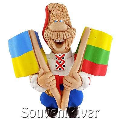 """Сувенірний магніт """"Україна - Литва"""""""