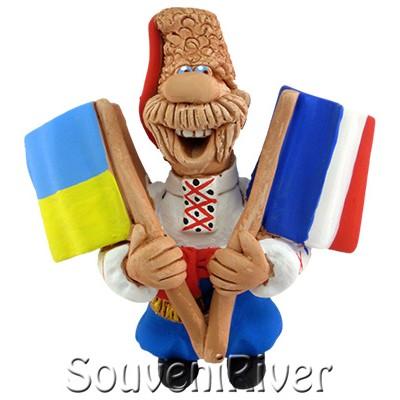 """Сувенірний магніт """"Україна - Франція"""""""