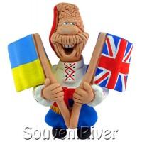 """Сувенірний магніт """"Україна - Велика Британія"""""""