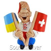 """Сувенірний магніт """"Україна -Швейцарія"""""""