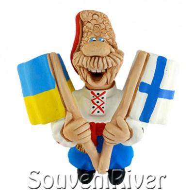 """Сувенірний магніт """"Україна -Финляндия"""""""
