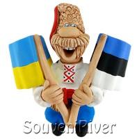 """Сувенірний магніт """"Україна -Эстония"""""""