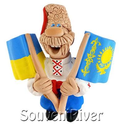 """Сувенірний магніт """"Україна -Казахстан"""""""