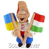 """Сувенірний магніт """"Україна -Венгрія"""""""