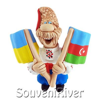 """Сувенірний магніт """"Україна -Азербайджан """""""