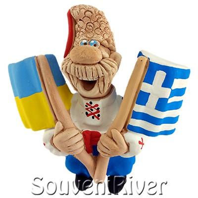 """Сувенірний магніт """"Україна -Греція """""""