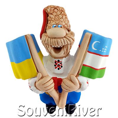 """Сувенірний магніт """"Україна -Узбекистан """""""