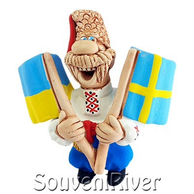 """Сувенірний магніт """"Україна -Швеція """""""