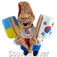 """Сувенірний магніт """"Україна -Південна Корея """""""