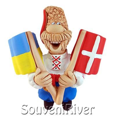 """Сувенірний магніт """"Україна - Данія"""""""