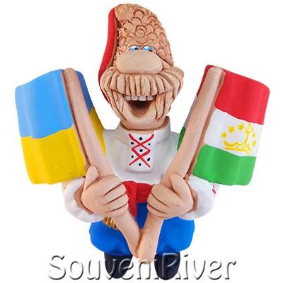 """Сувенірний магніт """"Україна - Таджикистан"""""""