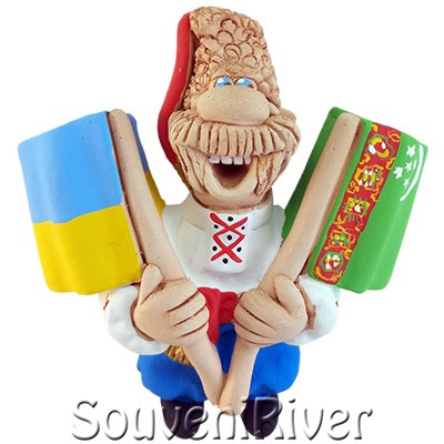 """Сувенірний магніт """"Україна - Туркменістан"""""""